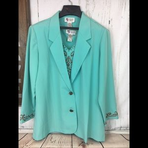 Maggie Sweet Jackets & Coats - Maggie Sweet Combo Suit and Shirt Set Petite Large